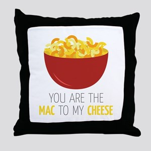 Mac To Cheese Throw Pillow