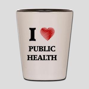 I Love Public Health Shot Glass