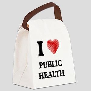 I Love Public Health Canvas Lunch Bag