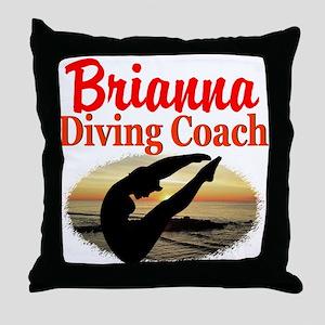 DIVING COACH Throw Pillow