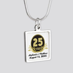 25th Anniversary Personalized Gift Idea Necklaces