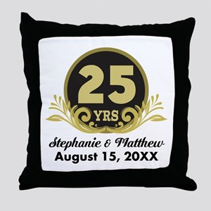25th Anniversary Personalized Gift Idea Throw Pill