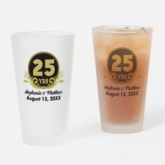 25th Anniversary Personalized Gift Idea Drinking G