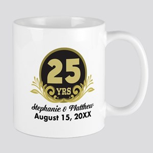 25th Anniversary Personalized Gift Idea Mugs