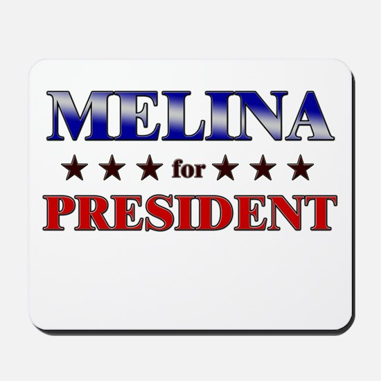 MELINA for president Mousepad