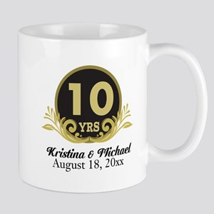 10th Anniversary Personalized gift idea Mugs