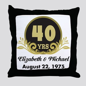 40th Anniversary Personalized Gift Idea Throw Pill