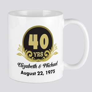 40th Anniversary Personalized Gift Idea Mugs