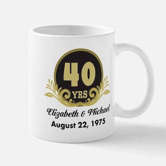 40th Anniversary Personalized Gift Idea Mugs