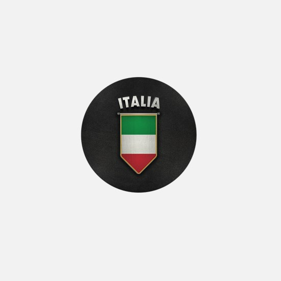 Italy Pennant with high quality leathe Mini Button