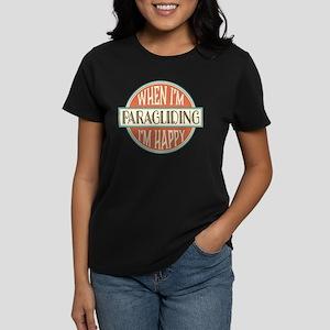 happy paraglider Women's Dark T-Shirt