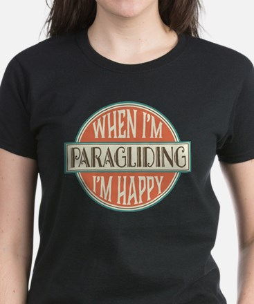 happy paraglider Women's Dark T-Shirt