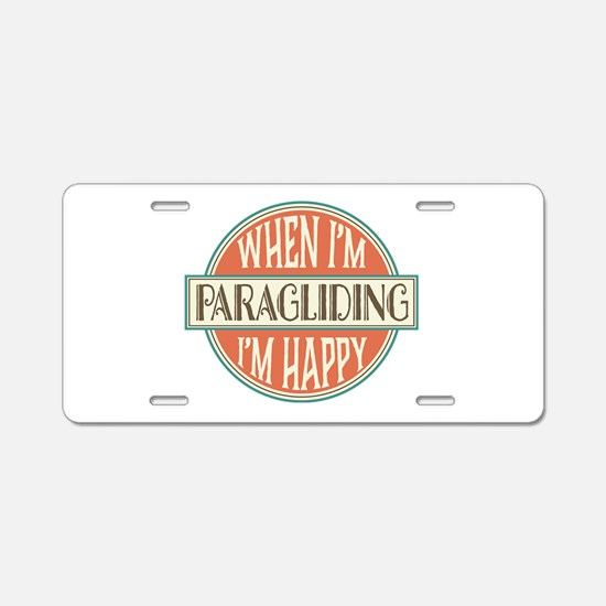 happy paraglider Aluminum License Plate