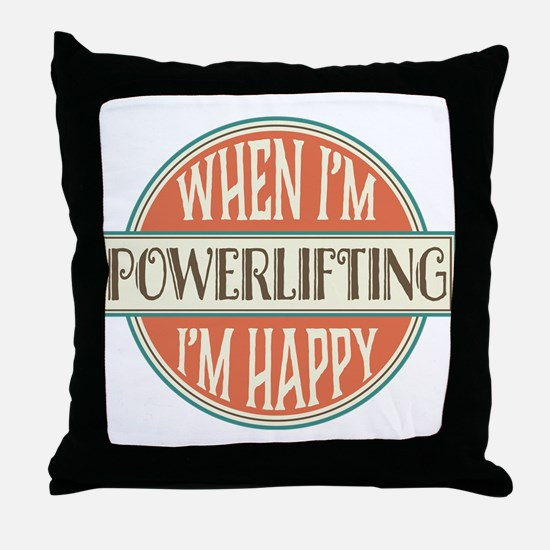 happy powerlifter Throw Pillow