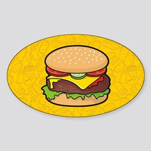Cheeseburger background Sticker