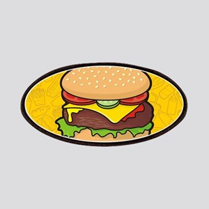 Cheeseburger background Patch