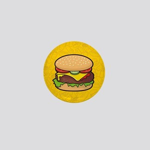 Cheeseburger background Mini Button
