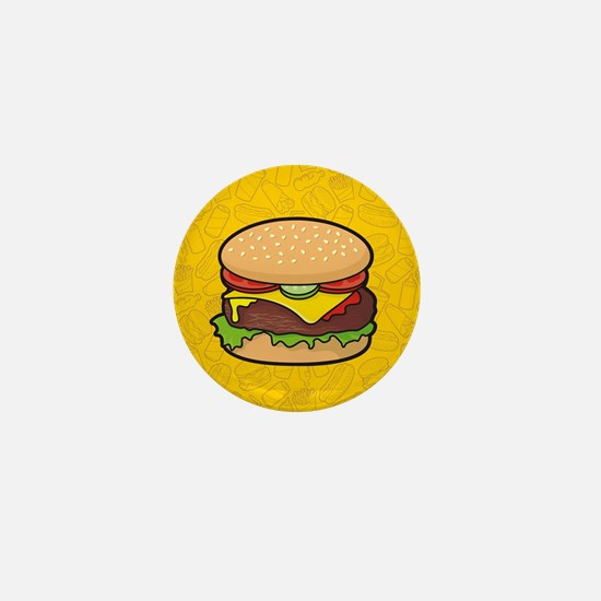 Cheeseburger background Mini Button