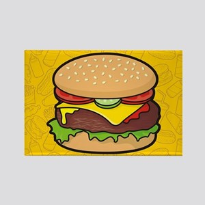 Cheeseburger background Magnets