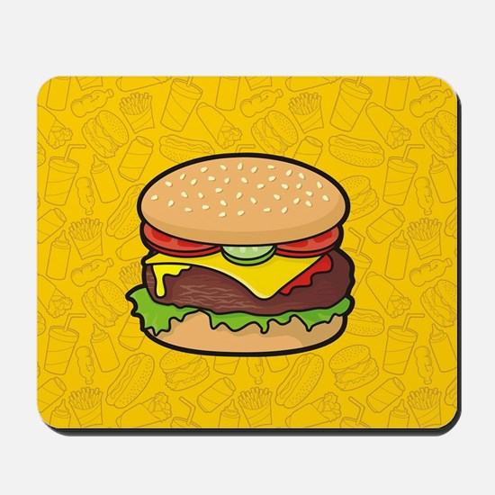 Cheeseburger background Mousepad