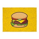 Cheeseburger 5x7 Rugs