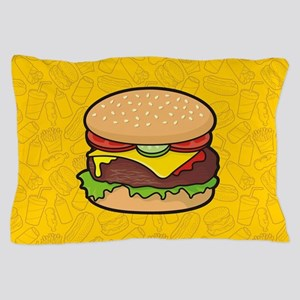 Cheeseburger background Pillow Case