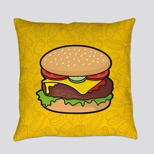 Cheeseburger background Everyday Pillow