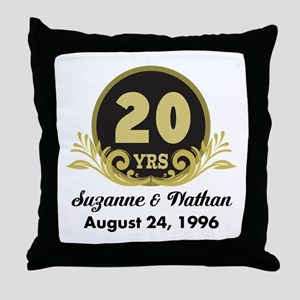 20th Anniversary Personalized Gift Idea Throw Pill