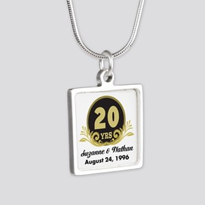 20th Anniversary Personalized Gift Idea Necklaces