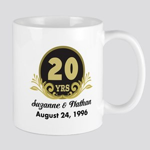 20th Anniversary Personalized Gift Idea Mugs