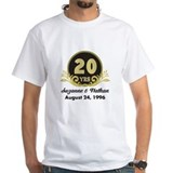 Anniversary Mens Classic White T-Shirts