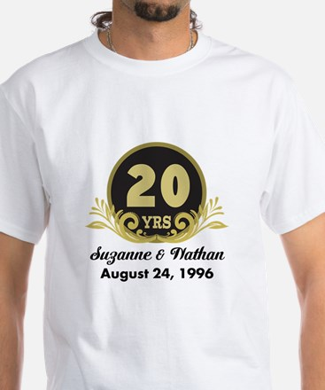 Gifts for 20 year anniversary unique 20 year anniversary gift 20th anniversary personalized gift idea t shirt negle Gallery
