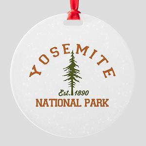 Yosemite. Round Ornament