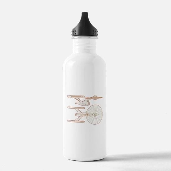 Cute Data star trek Water Bottle
