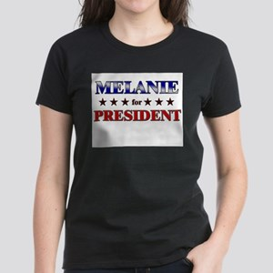 MELANIE for president Women's Dark T-Shirt