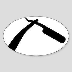 Cut Throat Razor Silhouette Sticker