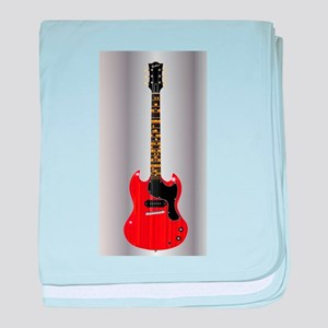 Guitar With Blues Scale baby blanket