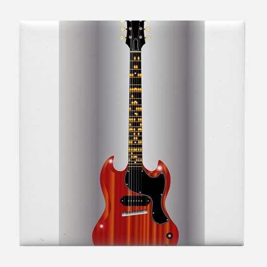 Guitar With Blues Scale Tile Coaster