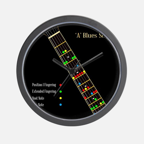 Guitar Blues Scale In A Wall Clock