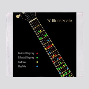 Guitar Blues Scale In A Throw Blanket