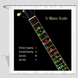 Guitar Blues Scale In A Shower Curtain