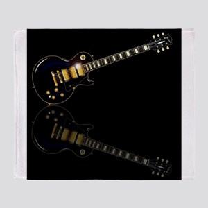 Black Beauty Electric Guitar Throw Blanket