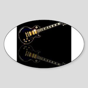 Black Beauty Electric Guitar Sticker