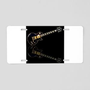 Black Beauty Electric Guita Aluminum License Plate