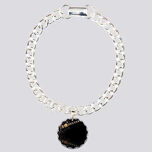 Black Beauty Electric Gu Charm Bracelet, One Charm