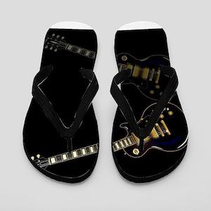Black Beauty Electric Guitar Flip Flops