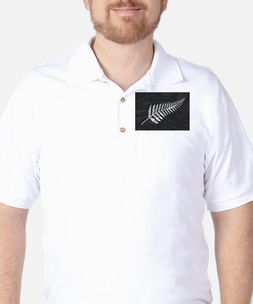 Silk Flag Of New Zealand Silver Fern Golf Shirt