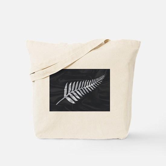 Silk Flag Of New Zealand Silver Fern Tote Bag