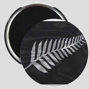 Silk Flag Of New Zealand Silver Fern Magnets