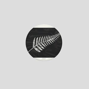 Silk Flag Of New Zealand Silver Fern Mini Button